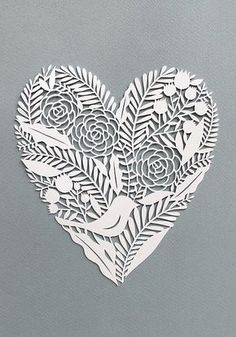 Cut Paper Heart by all things paper, via Flickr
