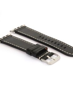 Leder   Schwarz Armband für die Apple Watch   BandWerk