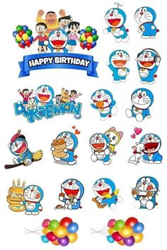 Doraemon Cake, Doraemon Cartoon, My Little Pony Printable, Jack Daniels Logo, Doraemon Wallpapers, Illustrator Cs6, Happy Birthday Cake Topper, Butterfly Crafts, Colorful Drawings