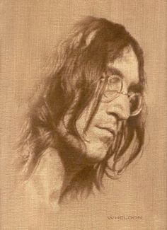 John Lennon from an original oil painting. by Wheldon