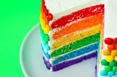 Stairway to Heaven: 20 Stunning Mile-High Layer Cakes via Brit + Co. Double Rainbow Cake: If Lisa Frank had a birthday party, we would bake her this cake. (via Brit + Co.)