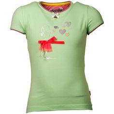 Bomba Shirtje Korte Mouwen Kusjes Groen
