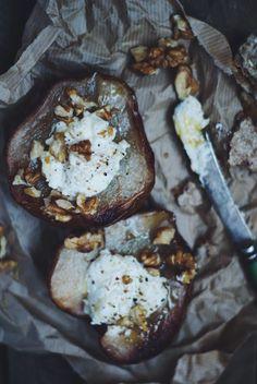 Poires rôties au chèvre - Meg&Cook