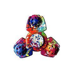 HENGSONG Tri Spinner Fidget Main Finger Jouets ABS Triangle Gyro Pocket Cadeau Soulager Votre l'anxiété pour TDAH Enfants Adultes (Couleur)