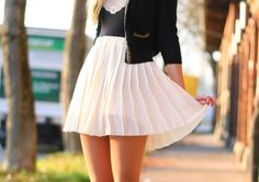white pleats=love!