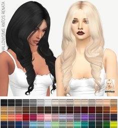 Miss Paraply: HALLOWSIMS ANTO'S RENATA: SOLIDS • Sims 4 Downloads