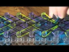 ▶ Small Basket Weave Rainbow Loom Bracelet - YouTube