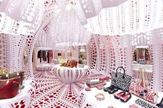 Louis Vuitton & Kusama  concept store at Selfridges by Yayoi Kusama