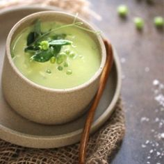 Garden Pea Soup- it's simply Spring in a bowl!