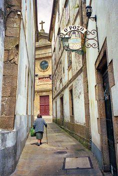 Calle en #Santiago de #Compostela. Galicia