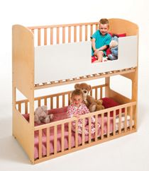 This is so cool.  Bunk cots/Bunk cot and bed/Bunk beds for toddlers.
