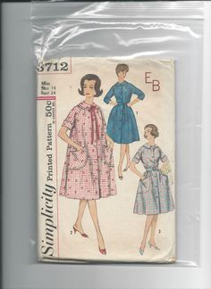 Simplicity 3712 Misses Robe Size 14 Bust 34 by VintageSewingShoppe