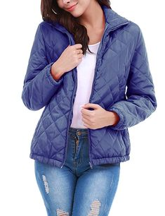 a25298f0ce7 Uniboutique Women Winter Down Jackets Packable Ultra Light Weight Jacket  Puffer Coat Light Blue XXL