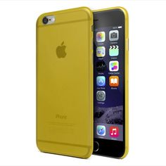 Funda super-slim amarilla iphone 6 plus