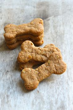 Super Simple Peanut Butter Dog Biscuits:  3/4 cup whole wheat flour  1/4 cup rolled oats  1/2 tsp baking powder  1/2 cup soy milk  1/2 cup smooth peanut butter *  1/2 Tbsp honey
