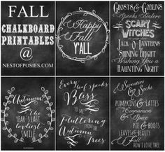 Fall and Halloween #Chalkboard Quote Printables