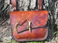 Leather Bag  Rustic Field Bag by HawkStudio on Etsy, $205.00