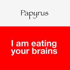Curioso e engraçado projeto 'Typocalipse' apresenta frases que as fontes diriam sobre elas mesmas.