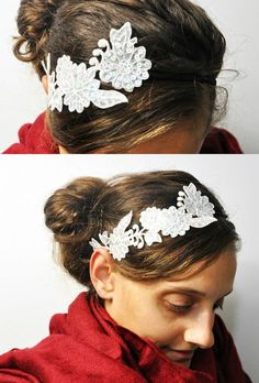The most inexpensive way to make a DIY headband? With a lace applique! And Jacy shows you how to do it so you can reuse the lace.