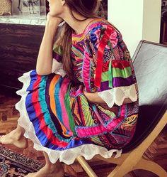 Huipil de Chinalteca,Oaxaca / traditional fashion / colorful / handmade / beautiful