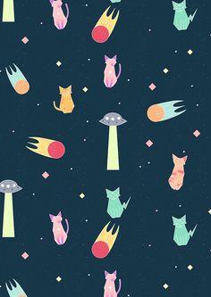 Alien Cat Pattern by n1mh