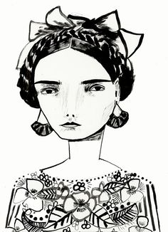 Scotland-born, Brooklyn-based Katy Smail has a portfolio full of pieces that exhibit her modern illustration chops. Art And Illustration, Illustrations And Posters, Graphic Design Illustration, Art For Art Sake, Art Graphique, Art Journal Inspiration, Design Inspiration, Portrait Art, Face Art
