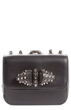 Christian Louboutin Christian Louboutin 'Baby Sweet Charity' Calfskin Leather Shoulder Bag available at #Nordstrom