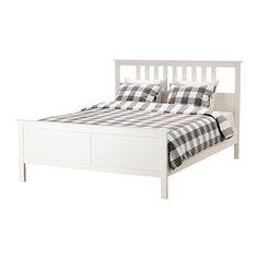 IKEA - HEMNES, Bed frame, Queen, Luröy, , Made of solid wood, which is a durable and warm natural material.Adjustable bed sides allow you to use mattresses of different thicknesses.17 slats of layer-glued birch adjust to your body weight and increase the suppleness of the mattress.