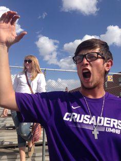 "School Spirit: ""I love supporting the Cru with my friends"" -Zach Zernial"