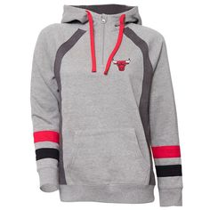 Women's Chicago Bulls Downtown Fleece Hoodie, Size: Medium, Grey
