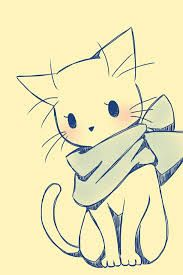 16 Trendy ideas for drawing cute animals sketches kawaii Pet Anime, Anime Animals, Anime Art, Cute Animals, Kawaii Drawings, Cool Drawings, Pencil Drawings, Drawings Of Cats, Simple Animal Drawings