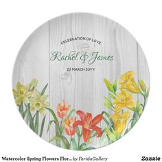 Watercolor Spring Flowers Floral Art