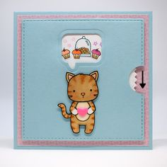 Bagatelas de papel: Tarjeta gatuna para el reto de Neat & Tangled - A cat card for the Neat & Tangled challenge