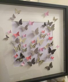 Butterfly 3D wall art - unframed paper butterflies. £18.00, via Etsy.