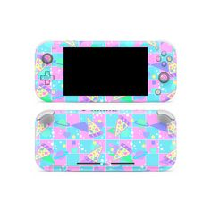 High quality vinyl skins printed in high resolutions with wide gamut inks. Personalize and protect your Switch Lite. Nintendo Game Consoles, Style Kawaii, Nintendo Switch Animal Crossing, Nintendo Switch Case, Nintendo Switch Accessories, Pokemon, Pastel Pattern, Pizza Party, Cute Phone Cases