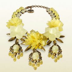 Gucci.Crystal and rhinestone statement bib necklace (jewelry)