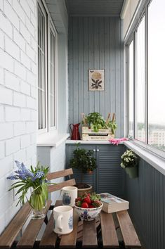 Home OfficeBalcony design is unquestionably important for the look of the house. There are therefore many beautiful ideas for balcony design. Here are many of the best balcony design. Narrow Balcony, Small Balcony Design, House With Balcony, Balcony Garden, Balcony Ideas, Ideas Terraza, Interior Balcony, Apartment Balconies, Marquise
