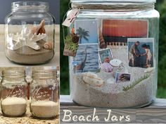 Having sand, shells, and photos, this DIY mason jars craft is very beachy, simple, easy and affordable. When vacation is over, you can take ...