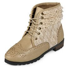 yeswalker - Lace Inset Ankle Boots