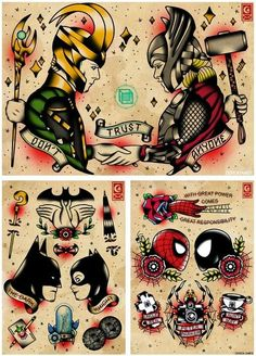 superhero tattoos - Google Search