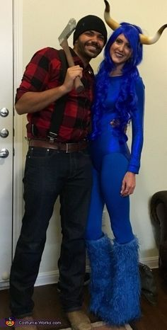 paul bunyan with babe the blue ox costume 2016 halloween costume contest via costume_works