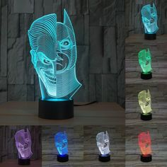 Double face batman 3D Illusion LED Lamp