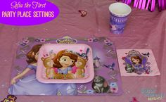 Disney Sofia the First Party Place Settings - Gator Mommy Reviews