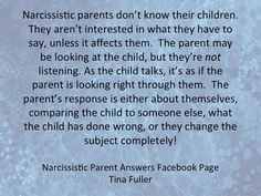 Narc Parents Don't Know Their Children