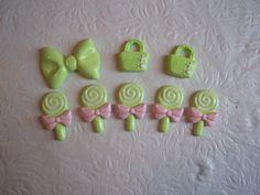 Mixed Lot/Variety Pack Mint Green Themed Cabochons by TrizzyBows, $2.80