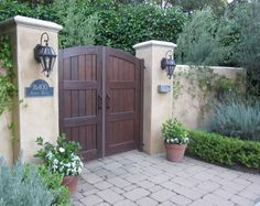 Wrought Iron Entry Way Lights Front Gates, Entry Gates, Spanish House, Spanish Style, Gate For Home, Dream Home Design, House Design, Garage Gate, Custom Gates