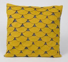 Scalloped pillow