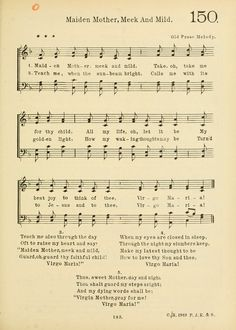 Old Christmas Songs, Catholic Hymns, American Catholic, Church Music, Piano Sheet Music, Mother Mary, Choir, Psalms, Ss