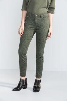 Cortefiel Printed sensational fit jeans Verde