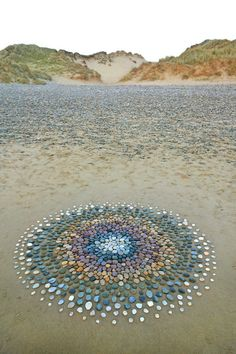 Pembrokeshire based Land artist Jon Foreman creates works in mostly natural material. Pebble Mosaic, Pebble Art, Mosaic Art, Rock Mosaic, Mosaic Garden, Garden Art, Garden Paths, Mosaic Walkway, Pebble Stone